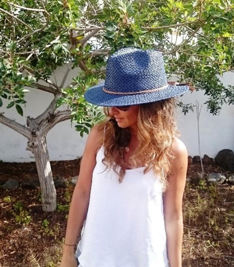 Blue Hat Beach hats panama hat sun hat womens hats sun  28a5644ba3