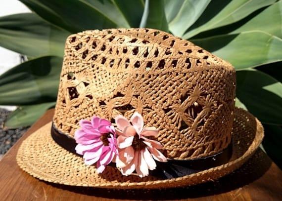 Fedora hat beach hat fedora hats for women straw hat beige  e7708ff50b