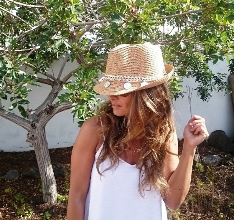 b744bbfa735 Fedora hat leather hat straw hat sun hats hats for women