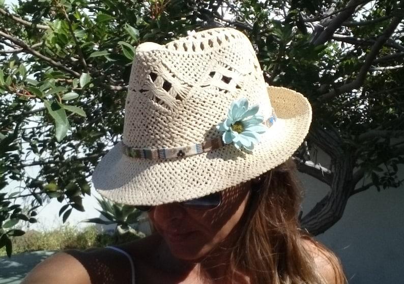 400cd0e8 Fedora hat hats for women sun hats beach hats Straw hat | Etsy