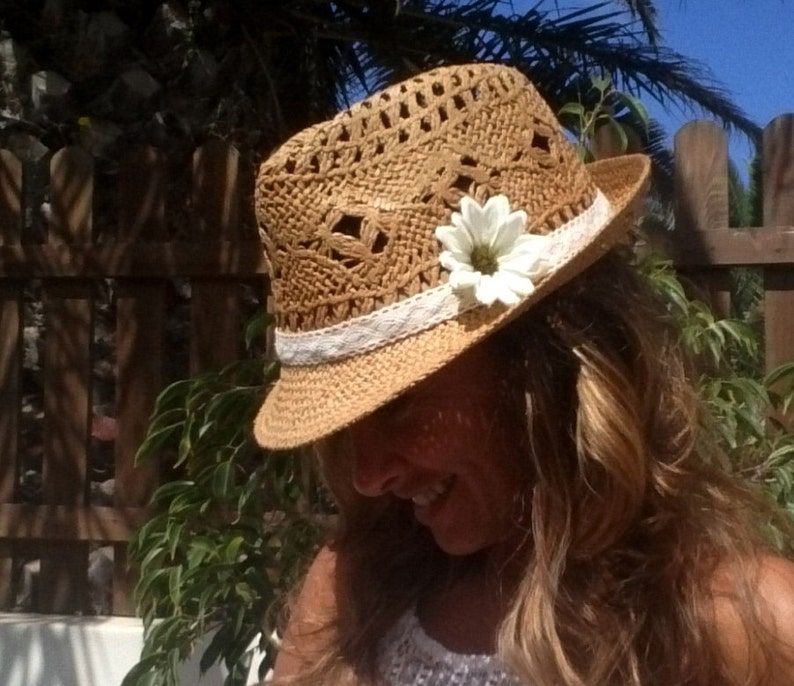 Fedora hat straw hat sun hats hats for women beach hats  eefc128a71