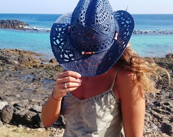 Sexy cowgirl hat, bohemian hats, boho hat, hats, custom hats, cowgirl hats, womens hats, straw cowboy hats, summer hats
