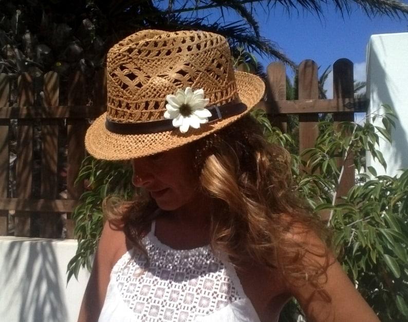 effb10830b1e7d Fedora hat straw hat sun hats hats for women beach hats | Etsy