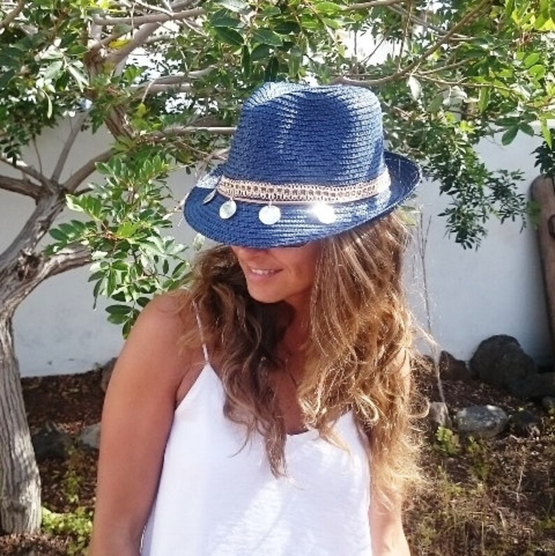 8119e228 Fedora hat hats for women sun hats beach hats Straw hat   Etsy