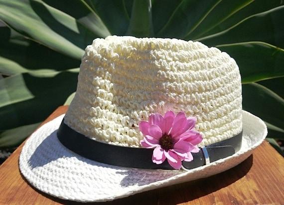 Fedora hat hats for women Straw hat sun hats ivory hat  354233eaea