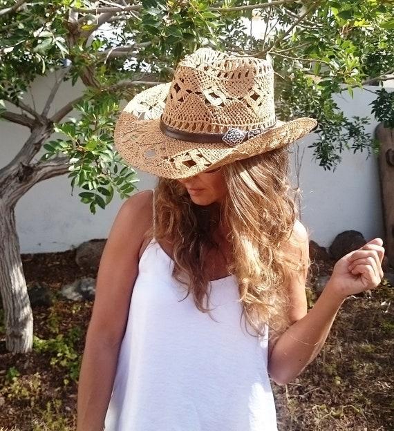 boho hat bohemian hat straw cowboy hats cowboy hats hats  b3f499d7cce6