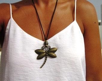 Long necklace, dragonfly necklace, Boho jewelry, bohemian jewelry, hippy jewelry, bohemian necklaces, boho necklaces, minimalist jewelry