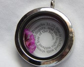 Proverbs 31 25 30MM Floating Locket with nickel free 24in. chain