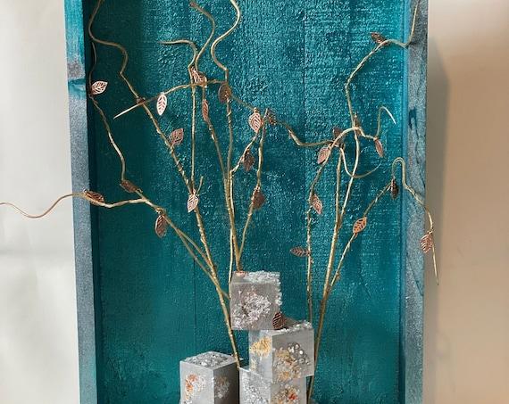 Tree art, the arabesque, rustic art, wall decor, home decor, tree of life, fantasy decor, enchanted forest.