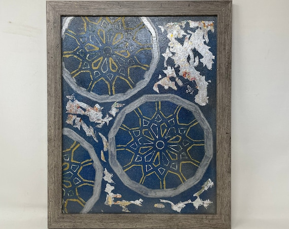The Arabesque® Medieval Islamic Geometric Wall Art Featuring Painted Abstract Islamic Geometric Arabesque Pattern & Modern Design Aesthetic
