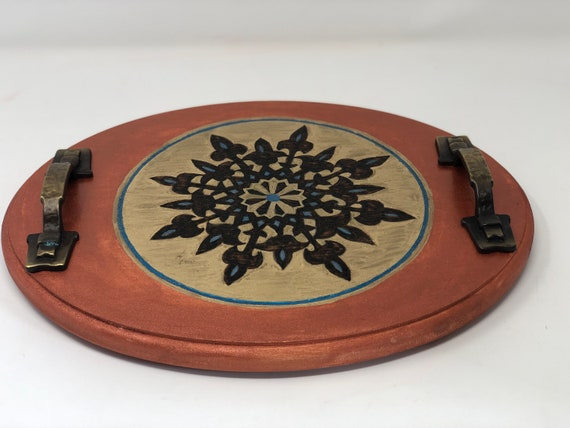 Sultan Hassan Medieval Art Themed Decorative Tray