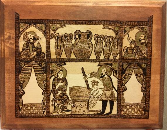 Pharmacist Gift Doctor gift Wooden wall art medieval art | Etsy