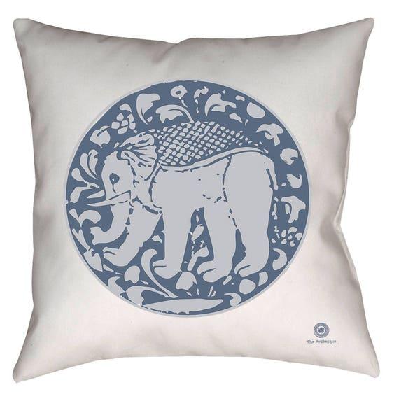 Zen Collection Medieval Ilkhanid 18 x 18 Elephant Throw Pillow