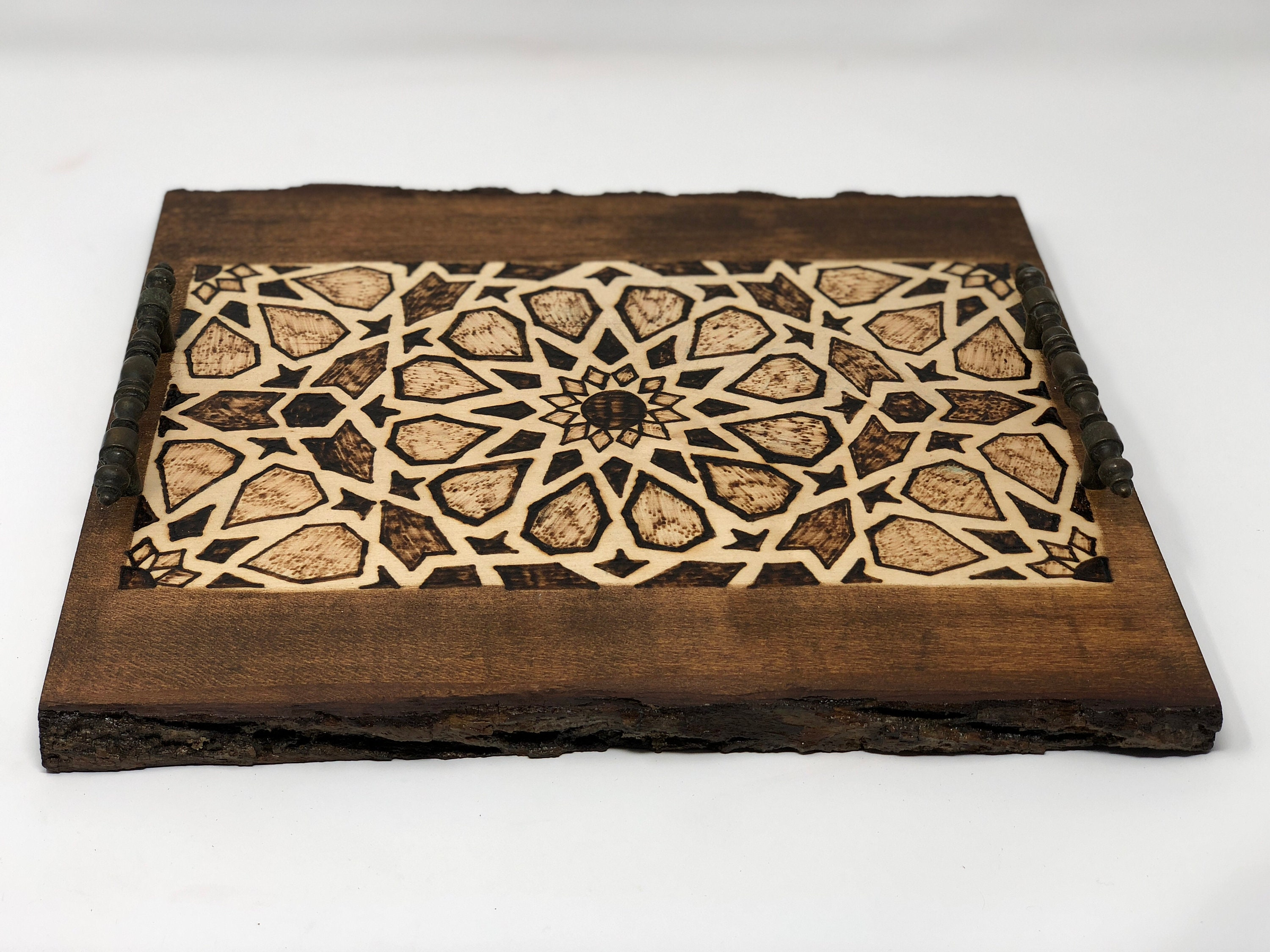 The Arabesque Decorative Wooden Tray With Mamluk