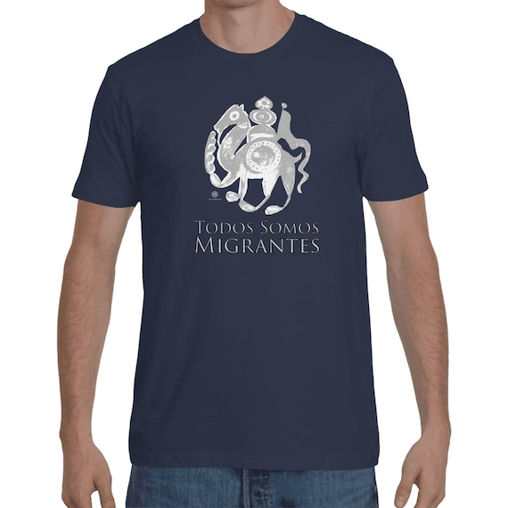 Todos Somos Migrantes - We Are All Migrants - Medieval Camel Shirt by The Arabesque