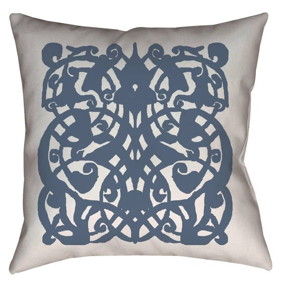 1389 - Medieval Mamluk Arabesque Pattern Printed Pillow 18 x 18 inches by The Arabesque