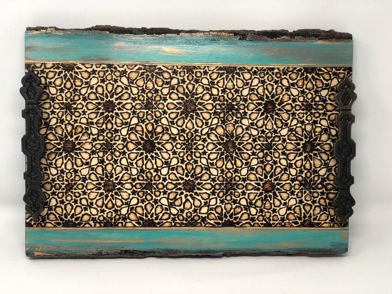 Handmade and Handcrafted Alhambra Geometric Arabesque image 0
