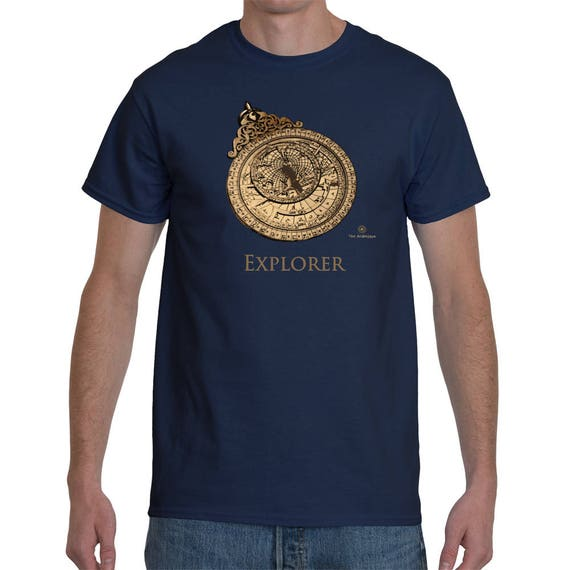 Explorer - Medieval Astrolabe T-Shirt By The Arabesque