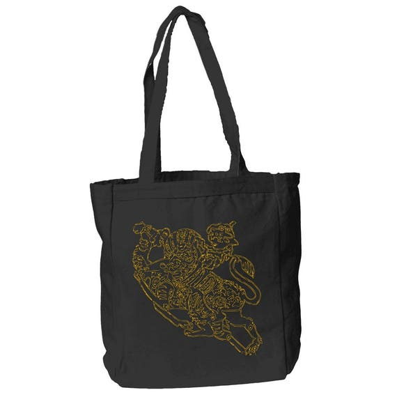 The Mantle - 12 oz Black Canvas Book Tote Bag By The Arabesque
