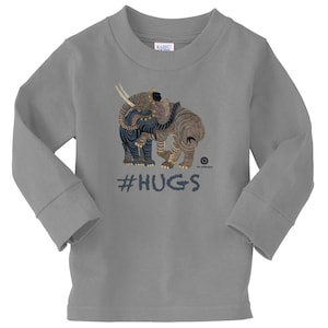 Medieval Persian Art Hoodie For Toddlers by The Arabesque Elephant Hugs