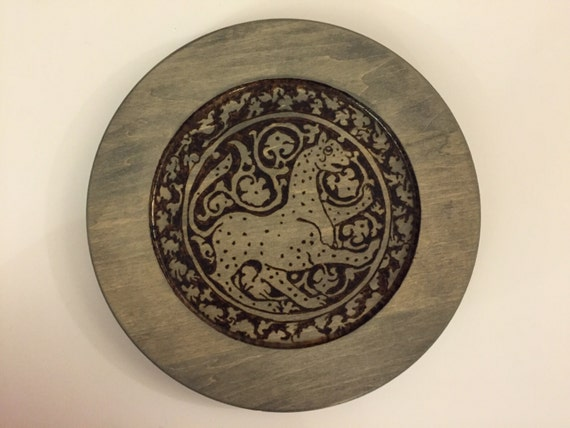 Wooden home decor; wood plates; Plate collectors; cat lovers; cat plates; Medieval Islamic lioness;  Seljuk art; lions; cats; Middle Eastern