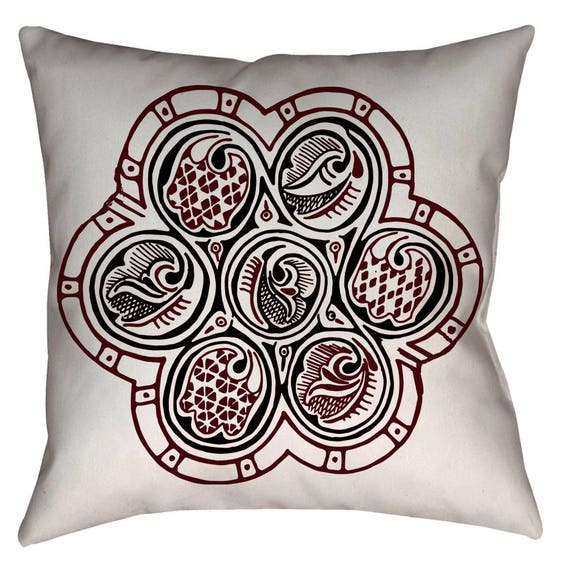 "Nishapur Medieval Arabesque 18 x 18\"" Decorative Home Decor Pillow"