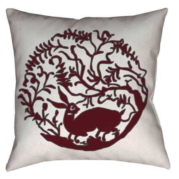 Zen Collection - Catch The Breeze - 16th Century Tabrizi Hare Design Home Decor Pillow