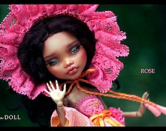 Monster High Repaint Art Doll OOAK –  Clawdeen Wolf | Rose | Romantic Series
