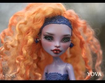 Reserved for Andrea | Monster High Repaint Art Doll OOAK – Jane Boolittle | Yova