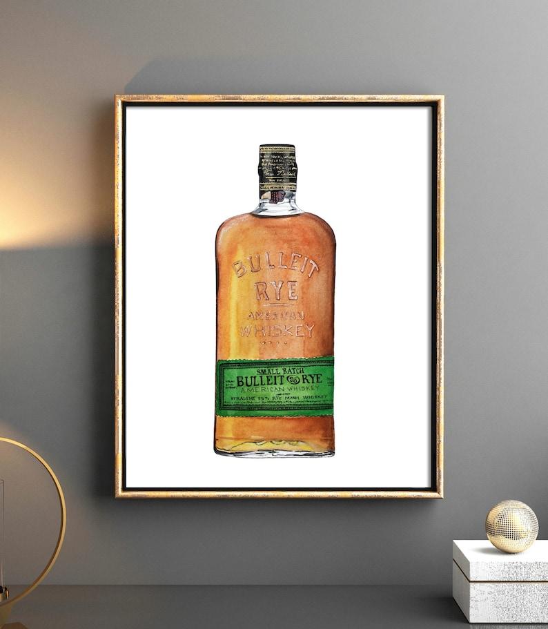 Whiskey Artwork Bourbon Art Whiskey Art Whiskey Collection Art Print Whiskey Bottle Art Whiskey Art Print