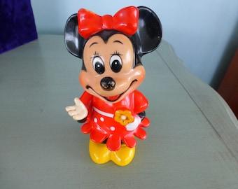 Vintage Disney Minnie Mouse Plastic Bank circa 1960's