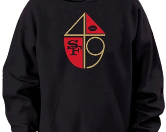 San Francisco 49ers Vintage Style Logo Hooded Sweatshirt