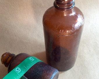 Vintage Lysol Brown Glass Bottles