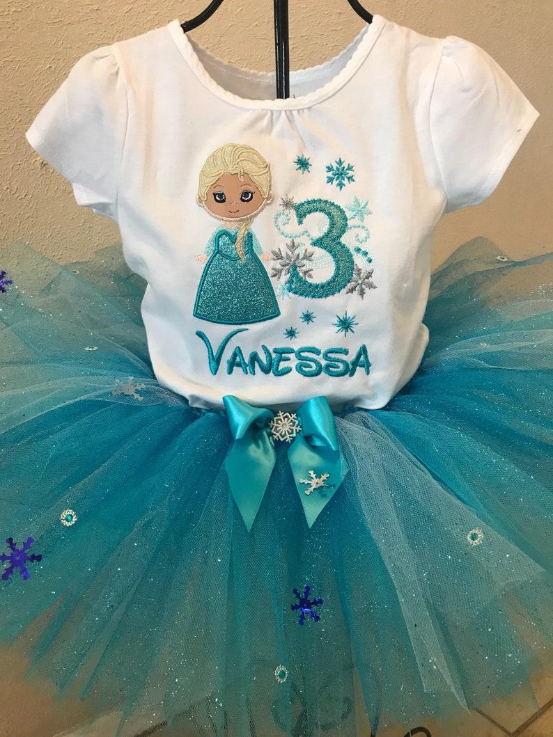 PERSONALISED DISNEY PRINCESS TUTU ROMPER Gift White Princess Elsa Frozen Dress