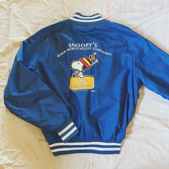 Vintage 80's Snoopy Varsity Jacket, Baseball Jacke