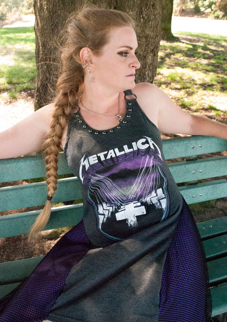 L-XL Metallica Master Of Puppets Flowy Tunic Dress