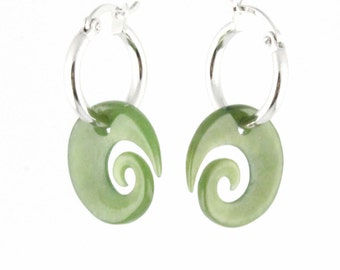 Canadian Nephrite Jade Earrings, 1782