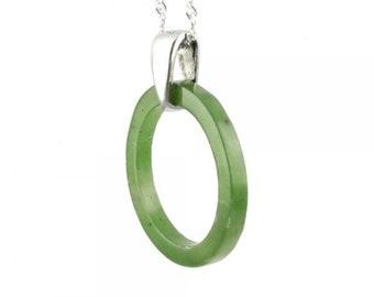 Jade circle pendant etsy canadian jade circle of life pendant 25mm mozeypictures Choice Image