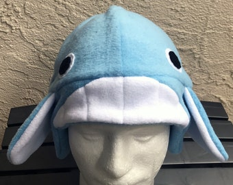 Whale Fleece Hat with Earflaps 2db4166d3