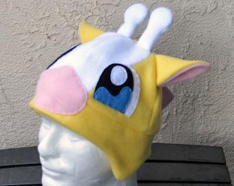 Girafarig Pokemon Fleece Hat with Earflaps
