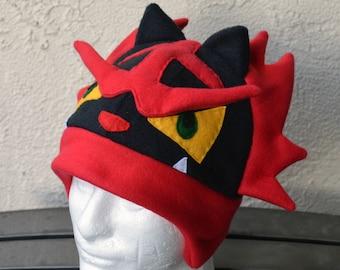 Incineroar Pokemon Fleece Hat with Earflaps