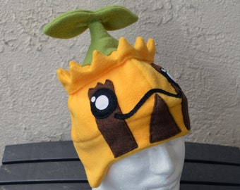 Sunkern Pokemon Fleece Hat with Earflaps