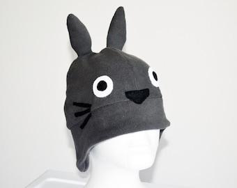 Totoro Fleece Hat with Earflaps