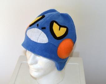 Croagunk Pokemon Fleece Hat with Earflaps