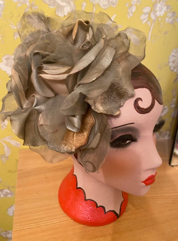 Ladies Lilac Plum Deep Dusty Pink Fascinator Rose