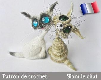 010FRM Siam le chat! Patron d'amigurumi au crochet. Fichier PDF. Par Pertseva Etsy