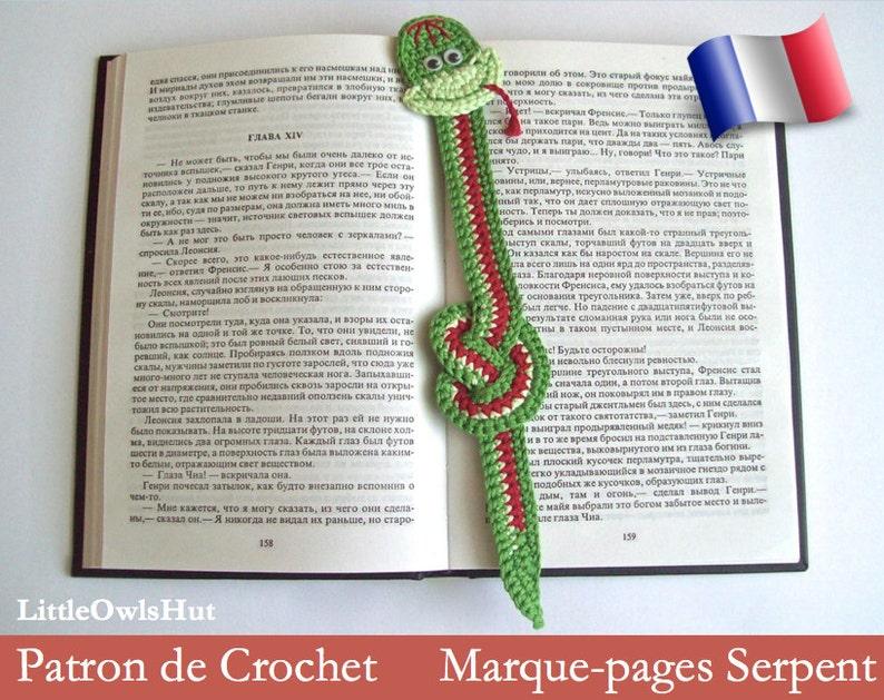 014frm Schema Uncinetto Segnalibro Piccolo Serpente File Etsy