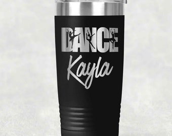 0450a67bbc317 Personalized Cheer/Dance 20oz etched Tumbler | Custom Dance/Cheer Etched  Tumbler| Cheer/Dance Gift| Perfect Cheerleader or Dancer Gift