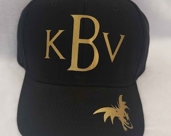 b795a583053c1 3 Initial Monogram Game Of Thrones Inspired Hat| Game of Thrones Hat| Game  of Thrones Fan Gift