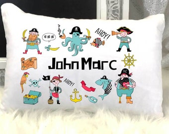 290e19aa952fa Personalized Pirate Nap or Travel Pillow | Custom Pirate Pillow |  Personalized Boy Pirate Pillow | Custom Boy Gift Pillow | Kindergarten Nap